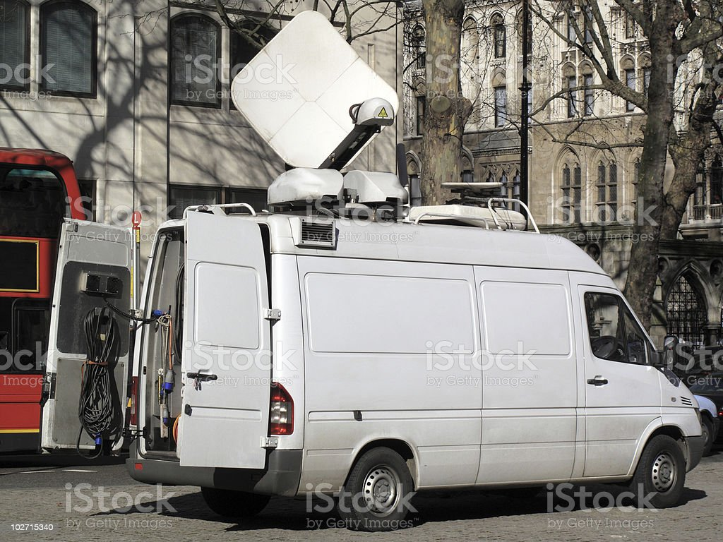 Outside Broadcast Van royalty-free stock photo