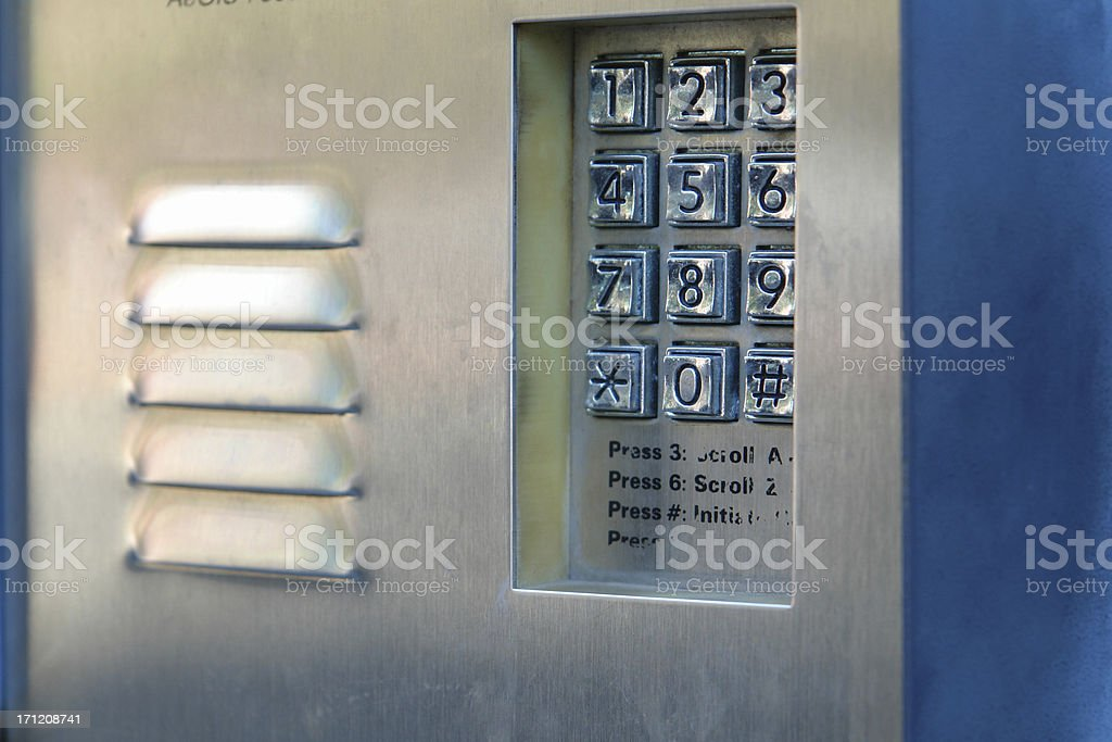 outside caller stock photo