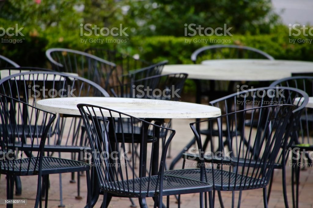 Outside Dining stock photo