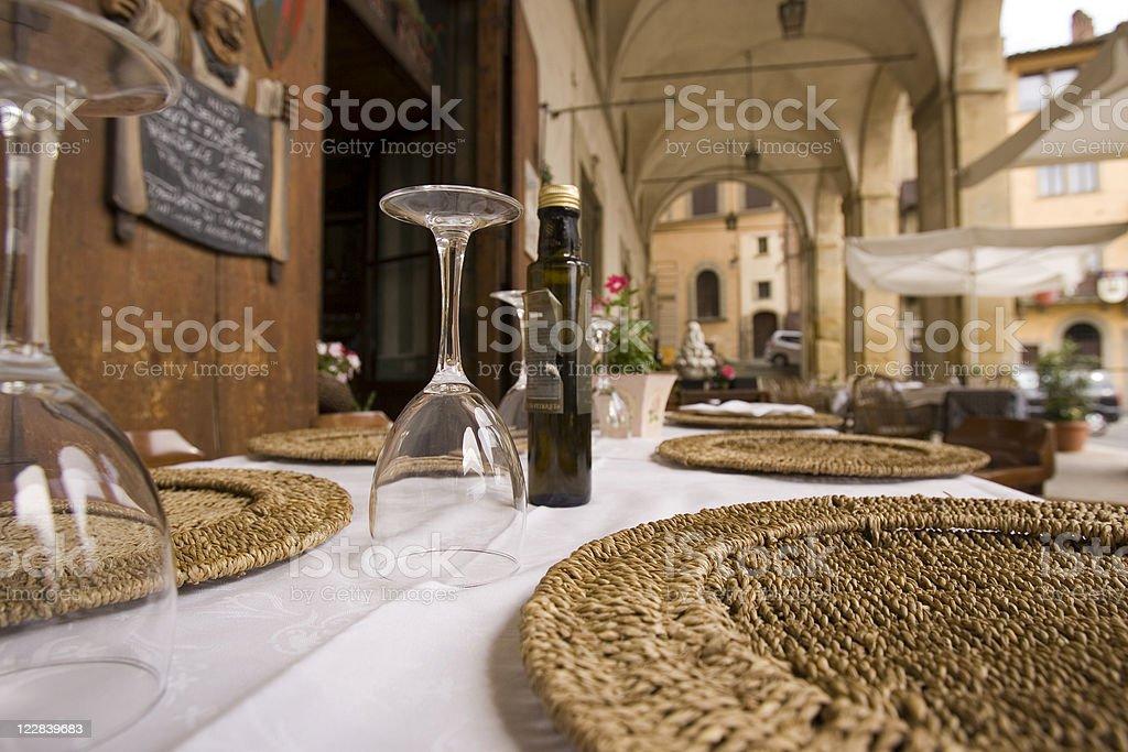 Sala da pranzo all'aperto - foto stock
