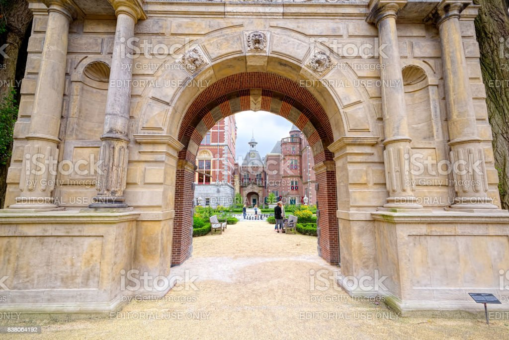 Outside entrance of Cuypers Bibliotheek, Amsterdam stock photo