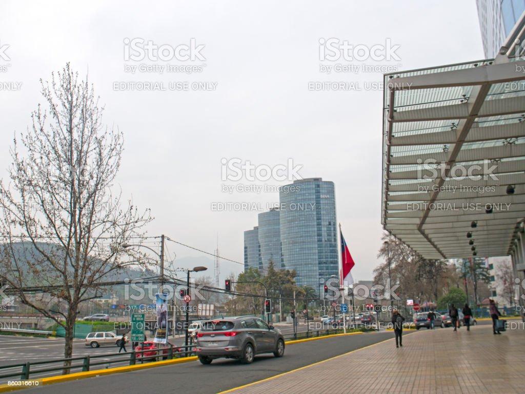 SANTIAGO, CHILE - SEPTEMBER 9, 2017: Outside Entrance to the Constanera Center Mall stock photo