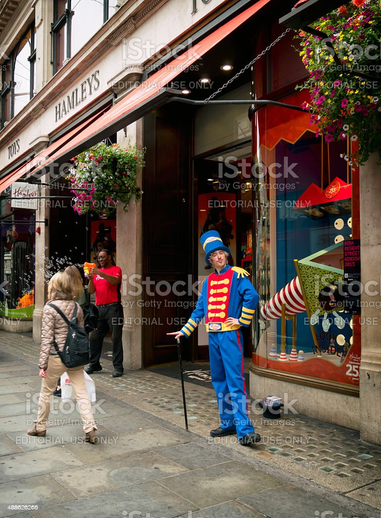 Outside Hamley's toy store, Regent Street stock photo