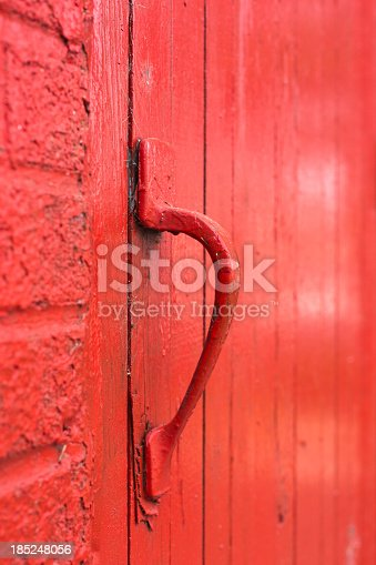 Red colored outside hinged handle