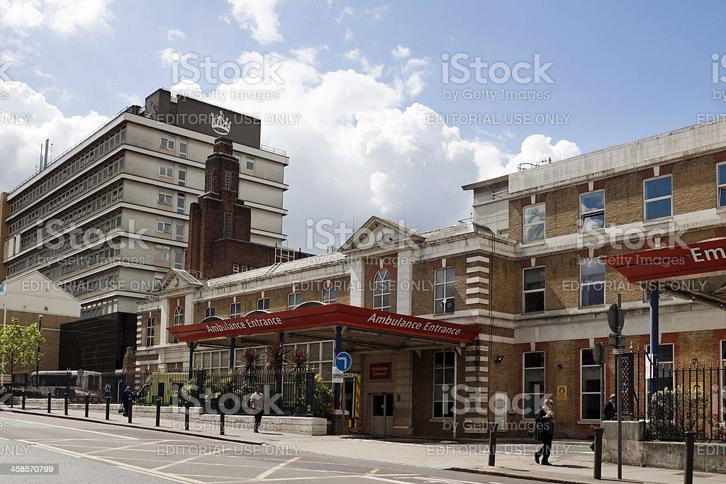Outside King's College Hospital, London stock photo