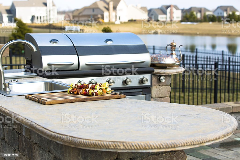 Outside Kitchen Counter Top stock photo