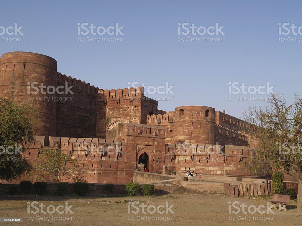 Außerhalb des Roten Fort in Agra, Indien Lizenzfreies stock-foto