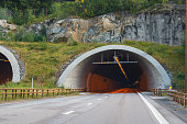 Outside of the road tunnel in Norway