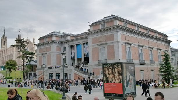 Outside Museo del Prado stock photo