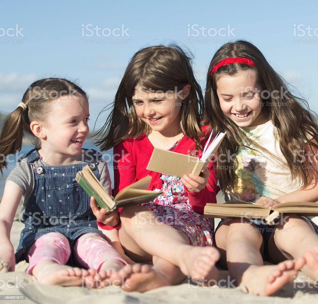 Outside readers stock photo
