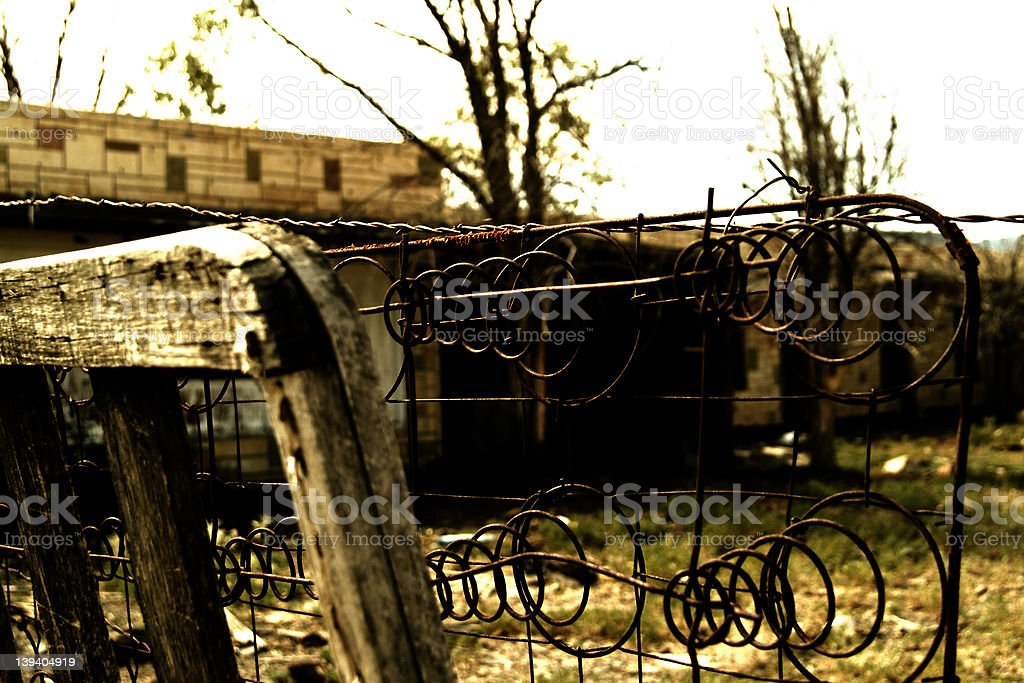 Outside The Fence royalty-free stock photo