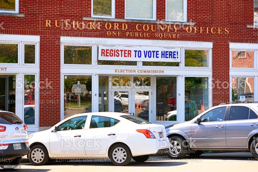 Outside The Rutherford County Election Commission Offices In Downtown Murfreesboro Tn Usa Stock Photo Download Image Now Istock