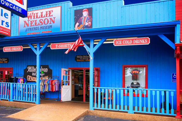 Outside the Willie Nelson and Friends Museum and souvenir store in Nashville, TN, USA stock photo