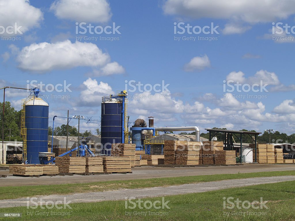 Outside View of a South Georgia Lumber Yard royalty-free stock photo