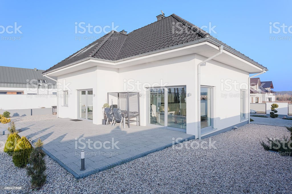 Outside view of modern house stock photo