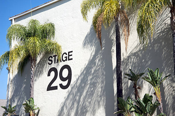 Outside view of stage 29 movie studio stock photo