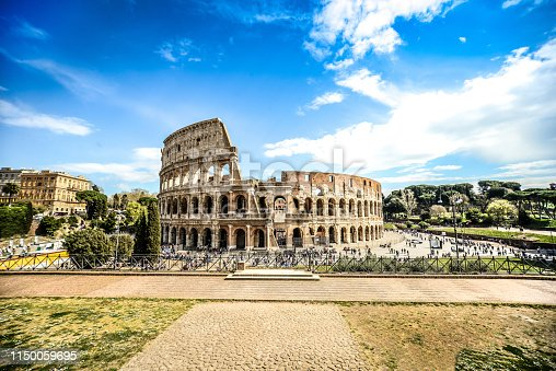 Outside View Of The Roman Colosseum