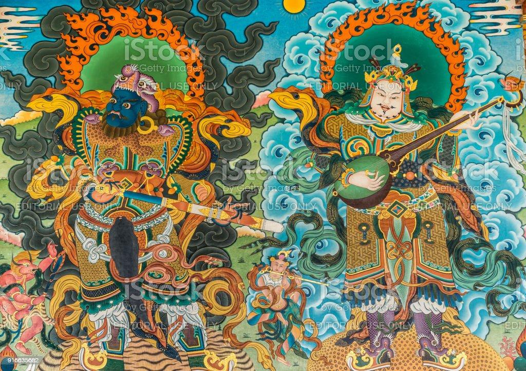 Photo Libre De Droit De Peinture Murale Extérieure Vihara De