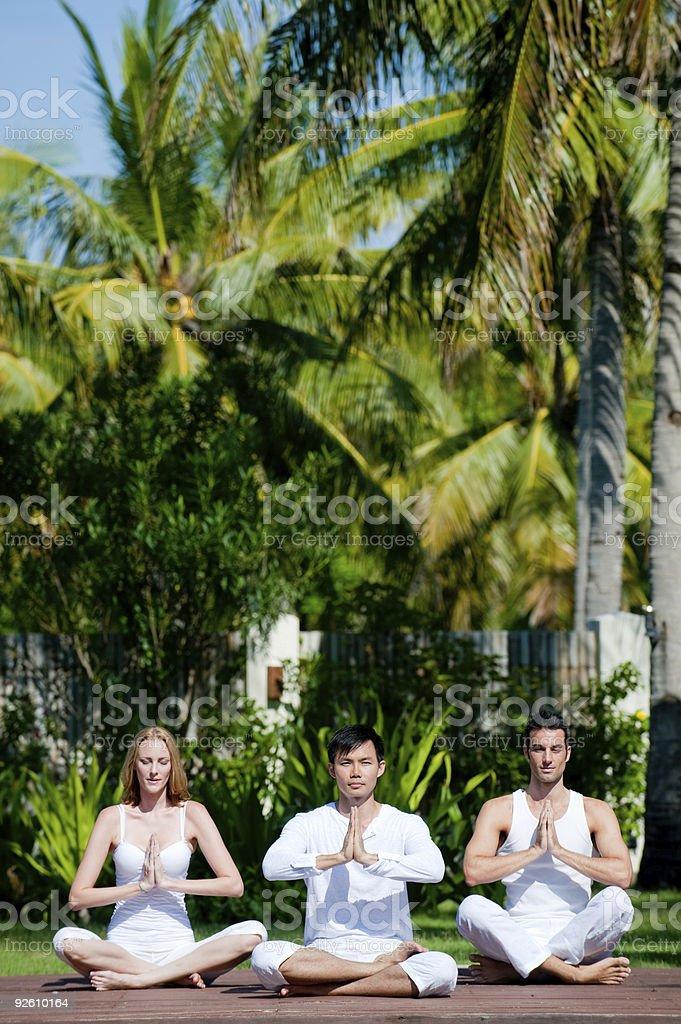 Outside Yoga royalty-free stock photo