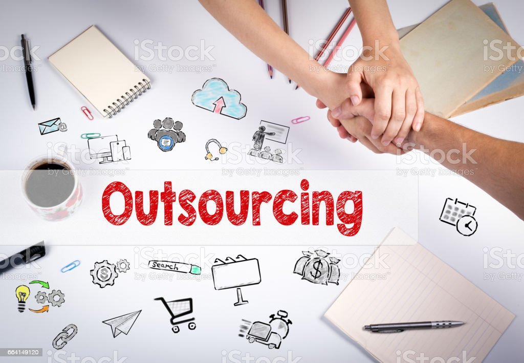Outsourcing concept – Foto