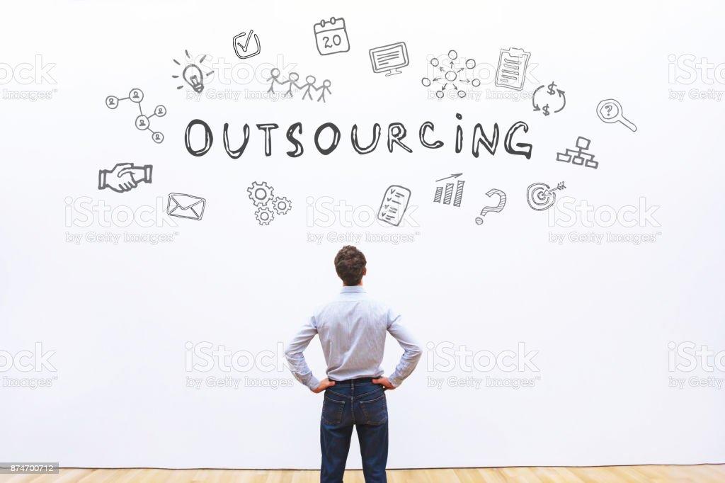 Outsourcing-Konzept - Lizenzfrei Outsourcing Stock-Foto