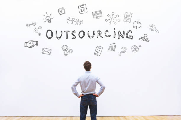 outsourcing concept outsourcing business concept outsourcing stock pictures, royalty-free photos & images