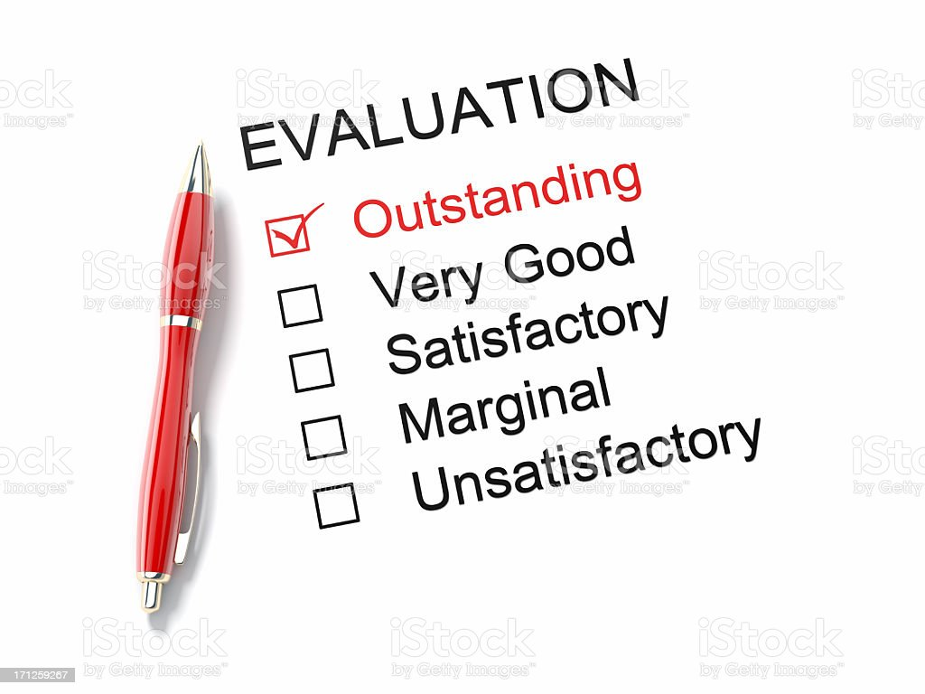 Outstanding Evaluation royalty-free stock photo