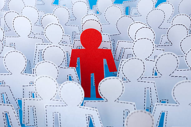 outstanding red man - dotted line stock photos and pictures
