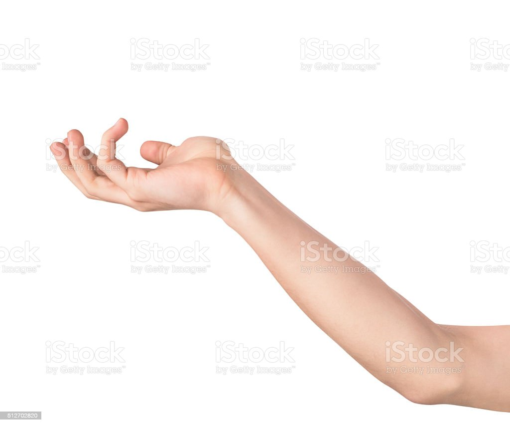 Outstretched hand stock photo