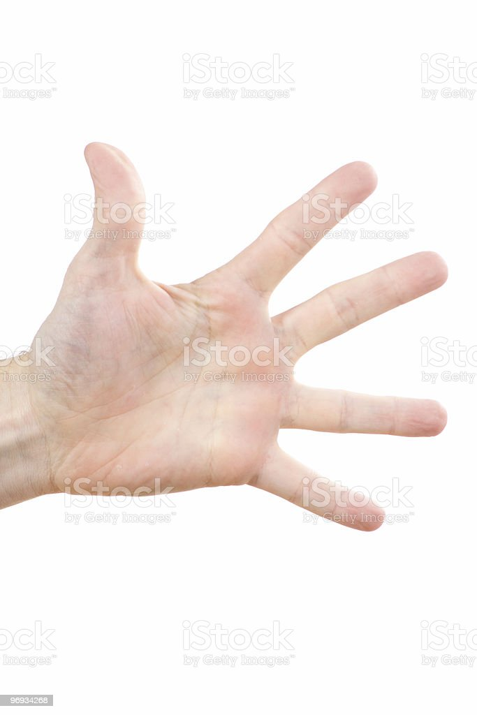 Outstretched human hand royalty-free stock photo