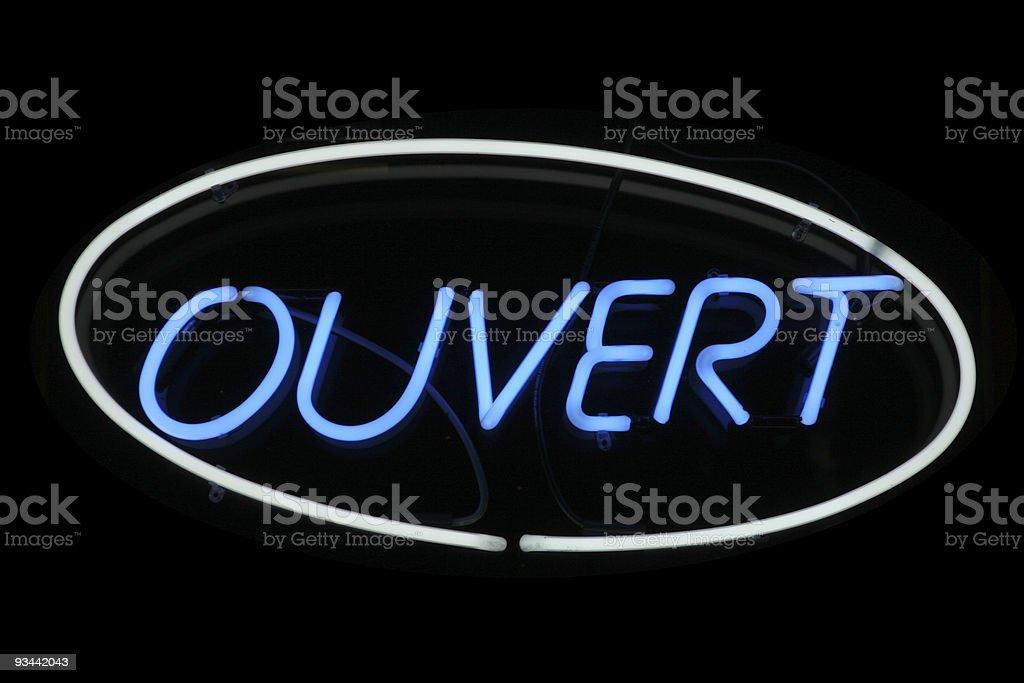 Ouvert-Leuchtreklame Lizenzfreies stock-foto