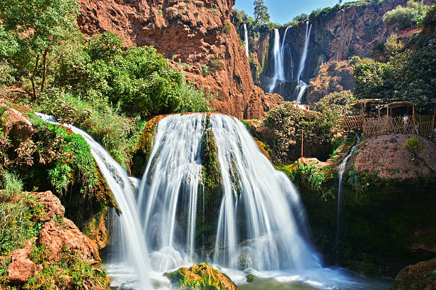 Ouzoud Falls near the Grand Atlas village of Tanaghmeilt Morocco – Foto