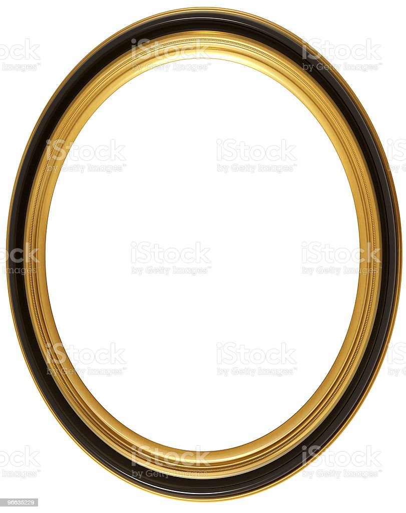 Oval antique picture frame royalty-free stock photo