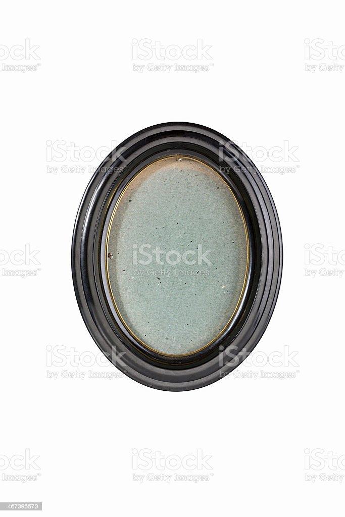 Marco Oval Negro En Gris De Fondo Cartón Stock Foto e Imagen de ...
