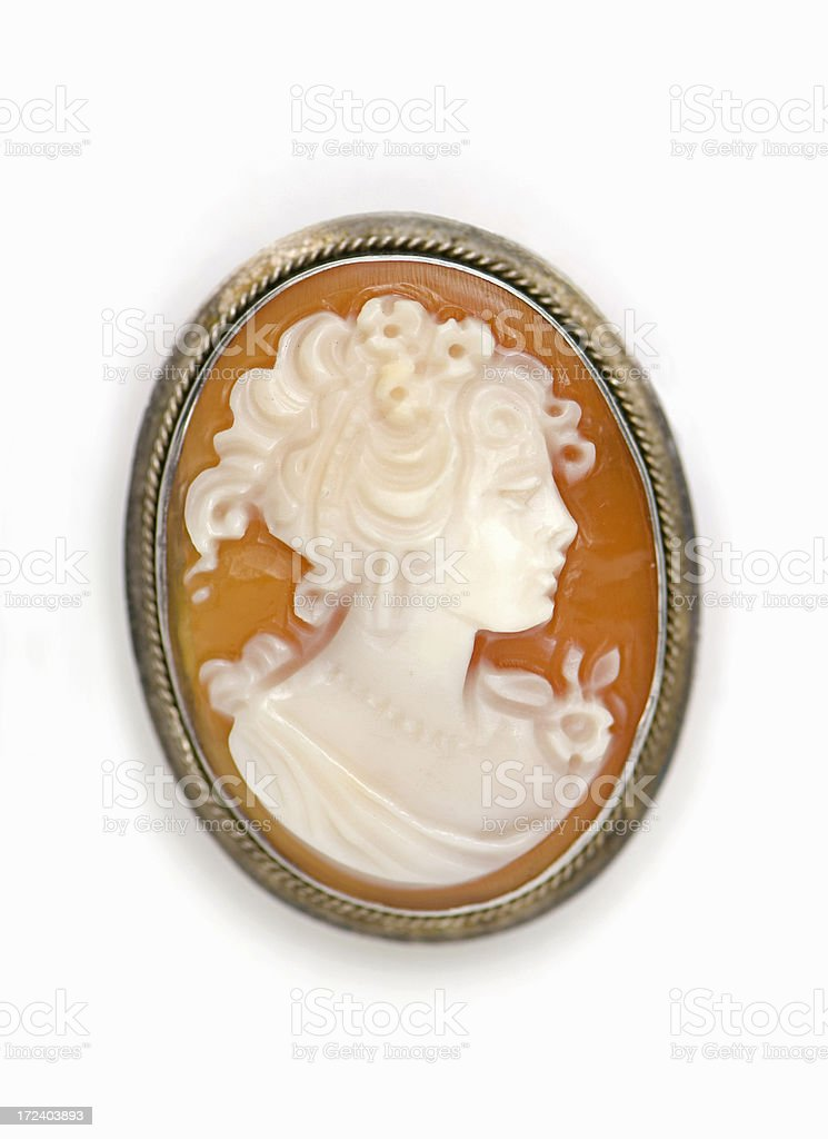 Oval Cameo stock photo