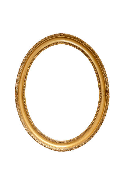 oval decorative picture frame - ellipse stock photos and pictures