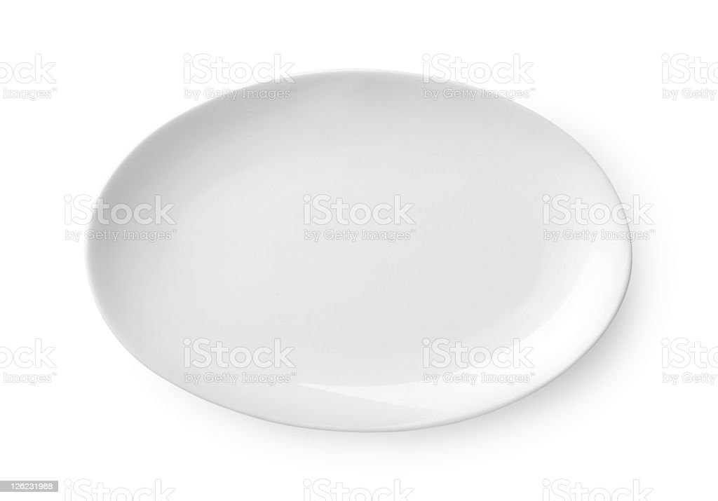 Oval dish stock photo