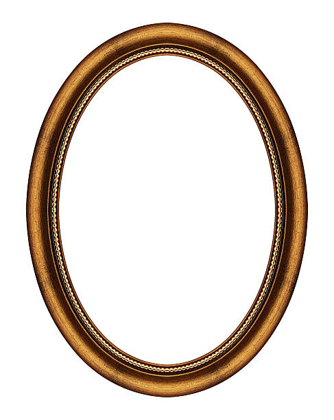 oval frame isolated on white - ellipse stock photos and pictures