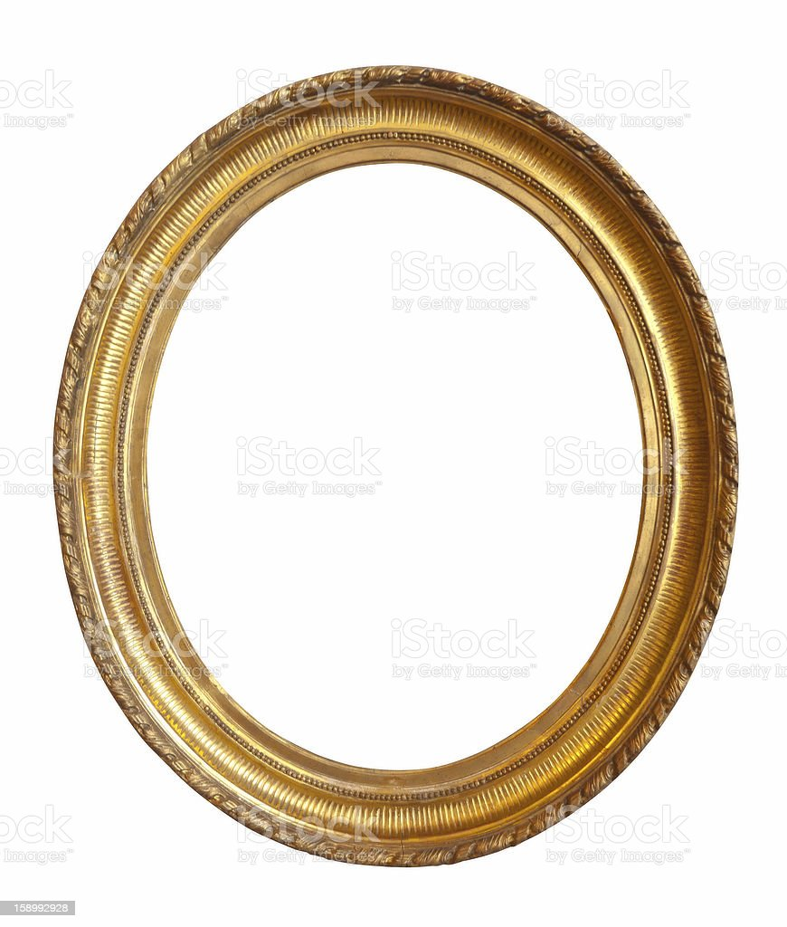 oval gold picture frame royalty-free stock photo