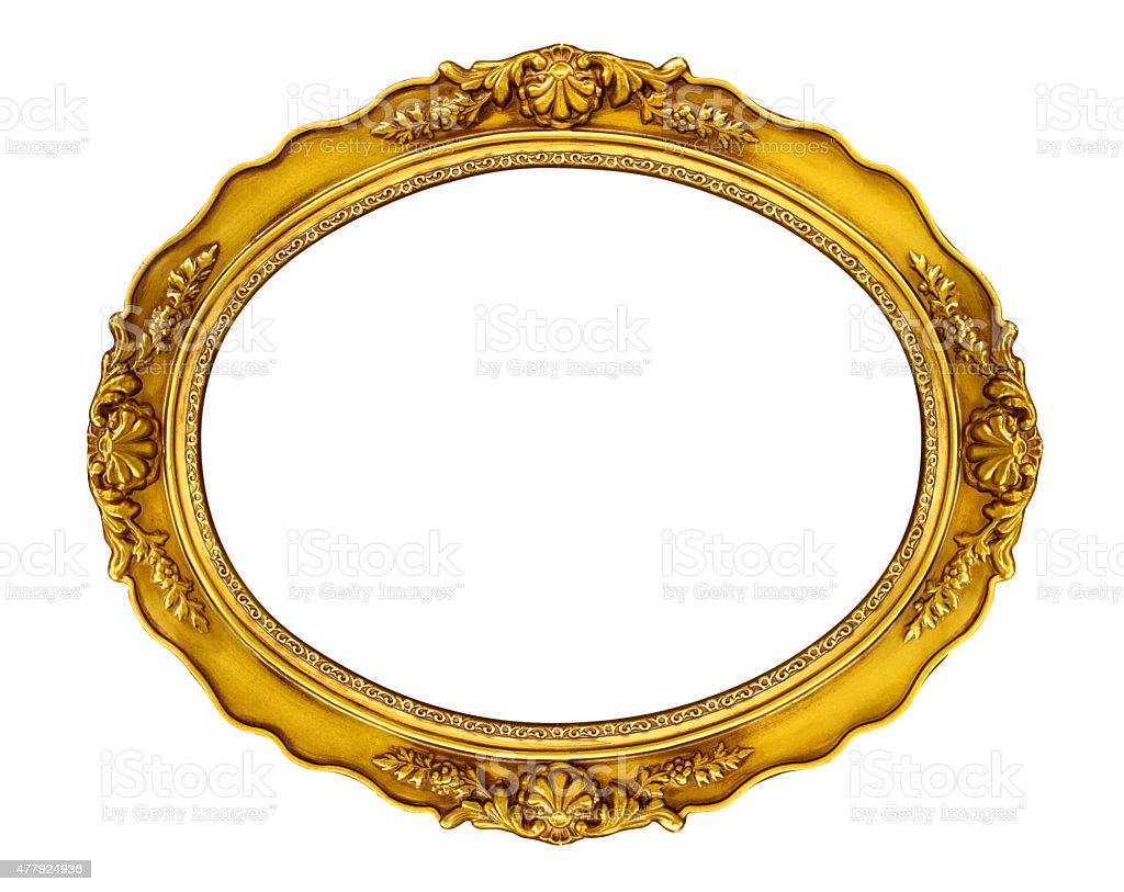 Oval Golden Frame stock photo