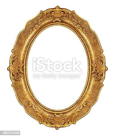 istock Oval Golden Frame 480224346