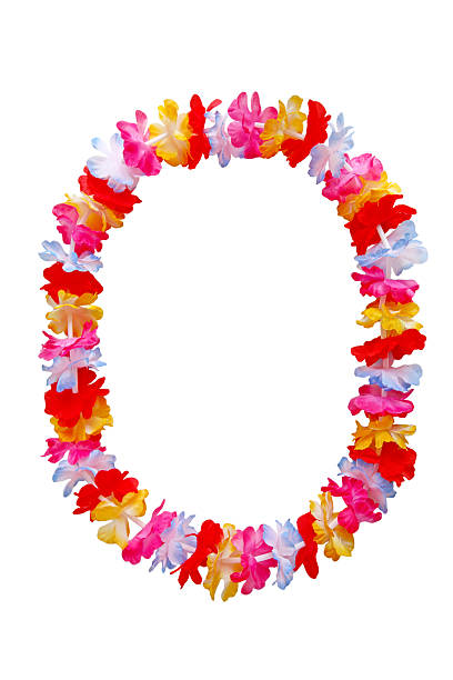 Oval Lei Necklace stock photo