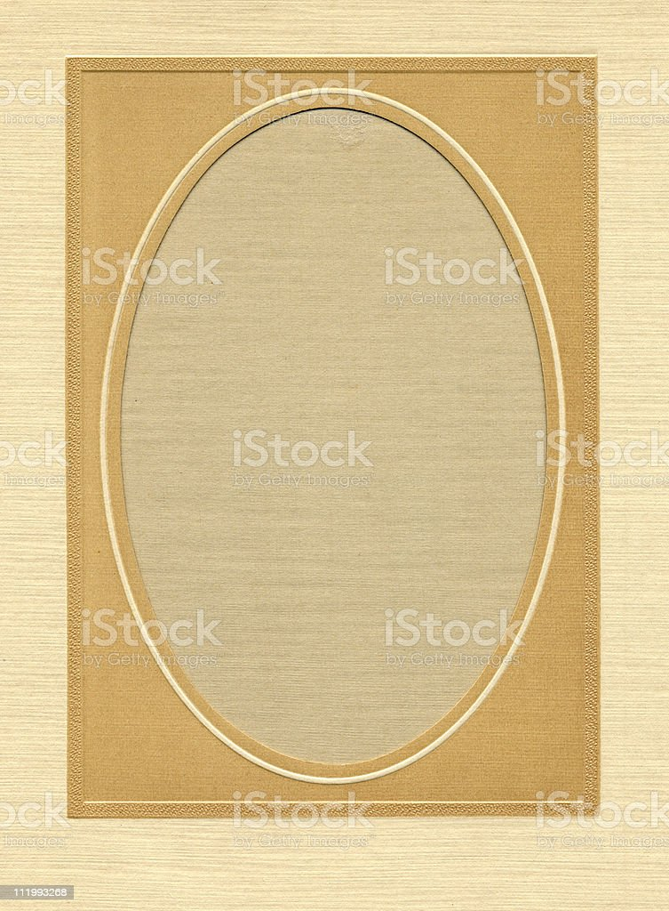Oval Matte royalty-free stock photo
