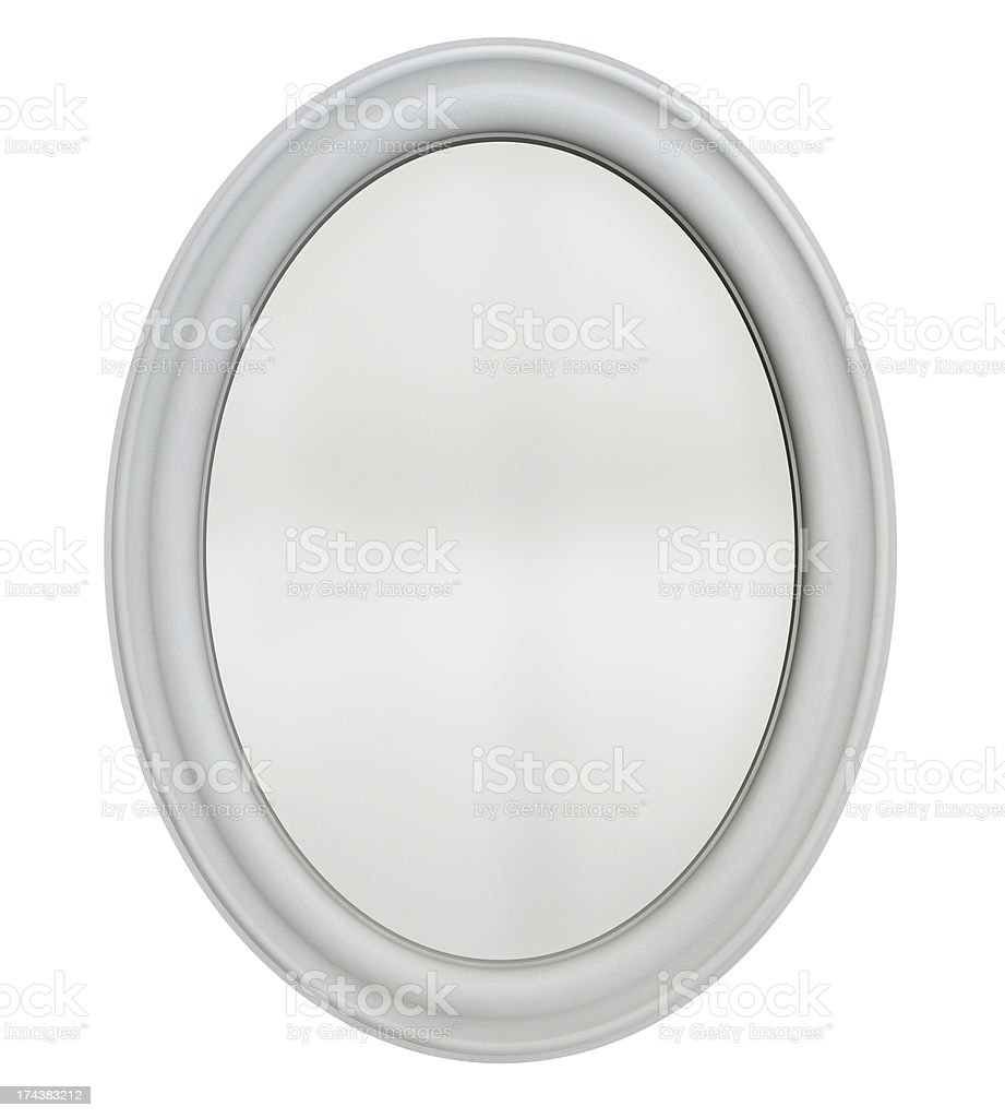 Oval Mirror Frame stock photo