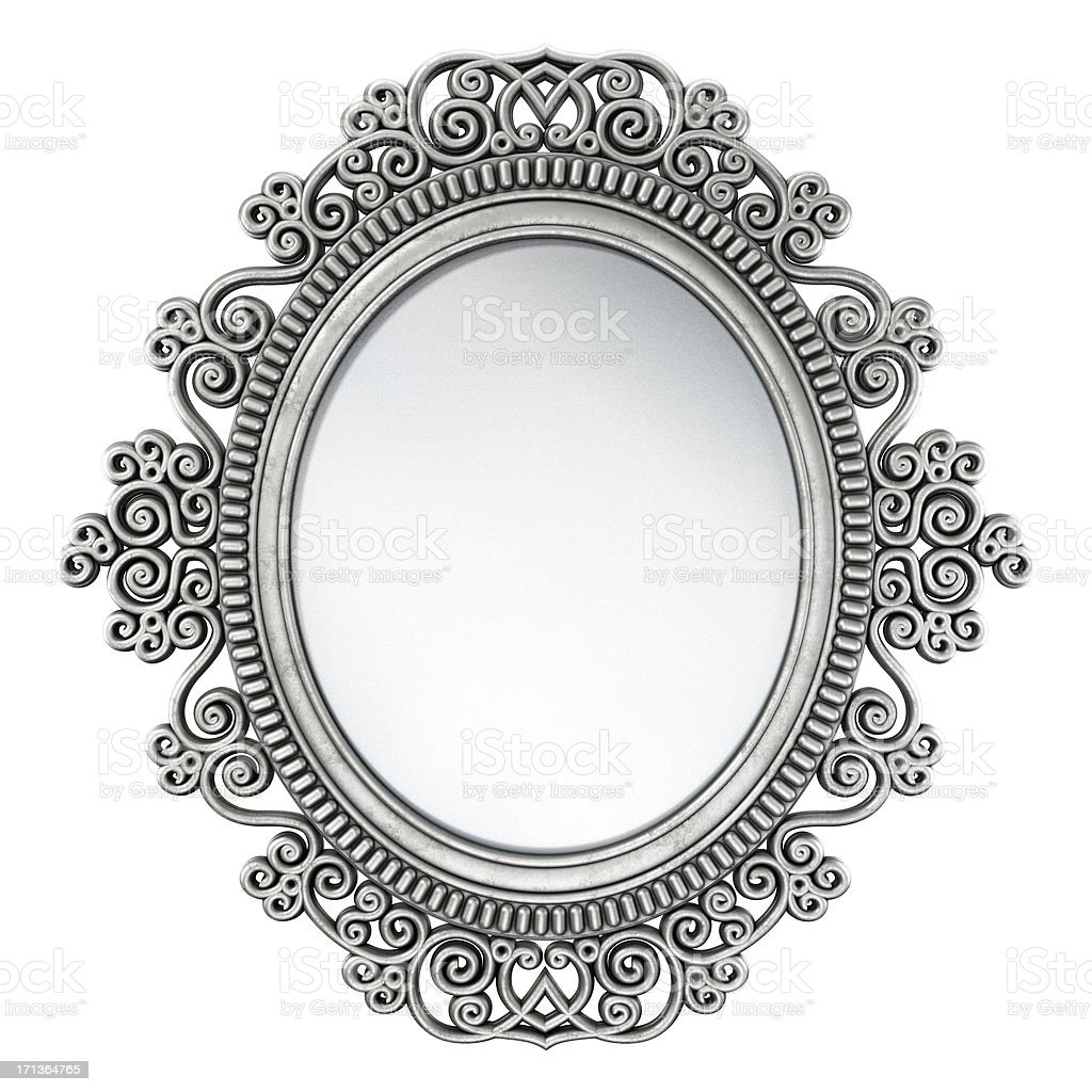 Oval mirror / picture frame royalty-free stock photo