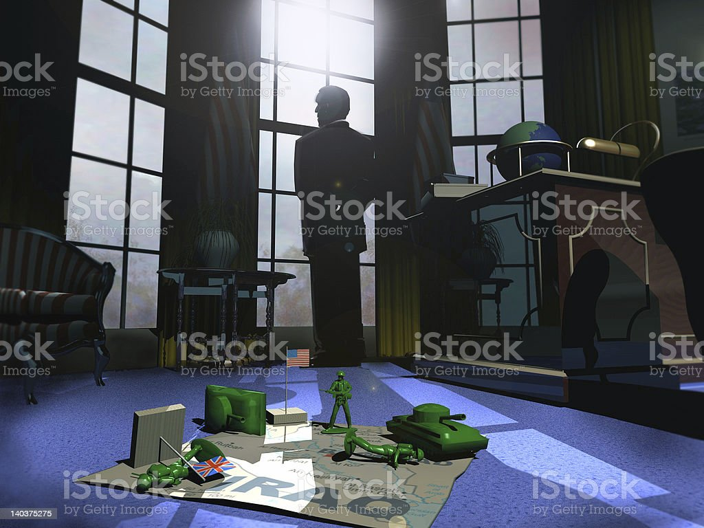 Oval Office, War Games royalty-free stock photo