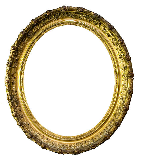 oval picture frame - ellipse stock photos and pictures