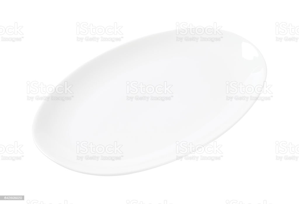 Oval plain white platter stock photo