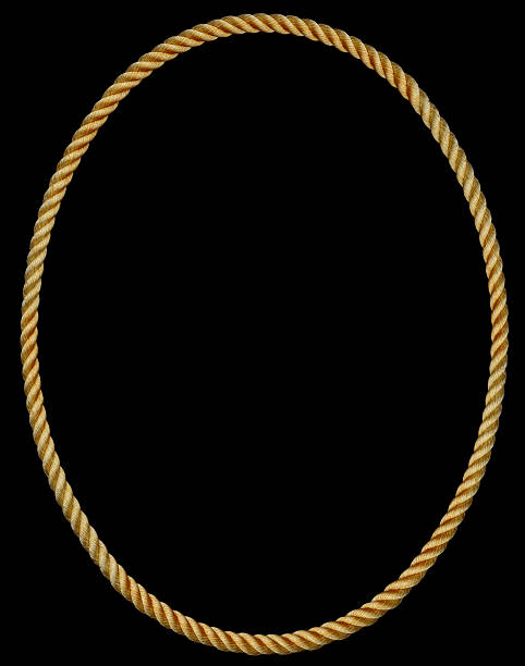 oval rope frame - ellipse stock photos and pictures