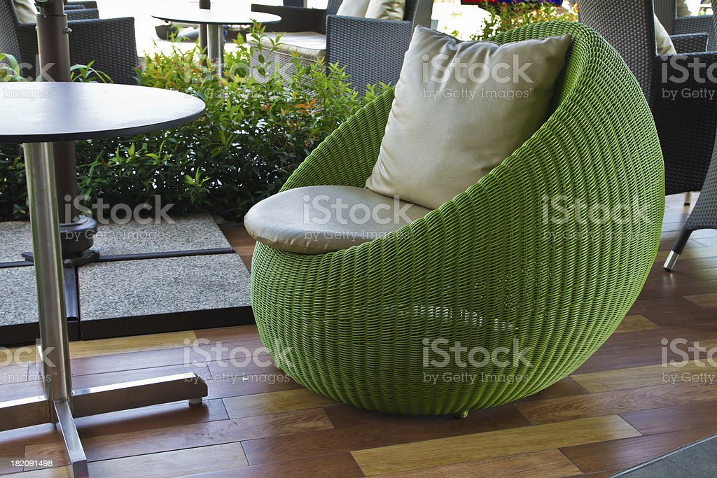 Oval shape chairs royalty-free stock photo